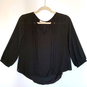 Lush Black 3/4 Sleeve Blouse